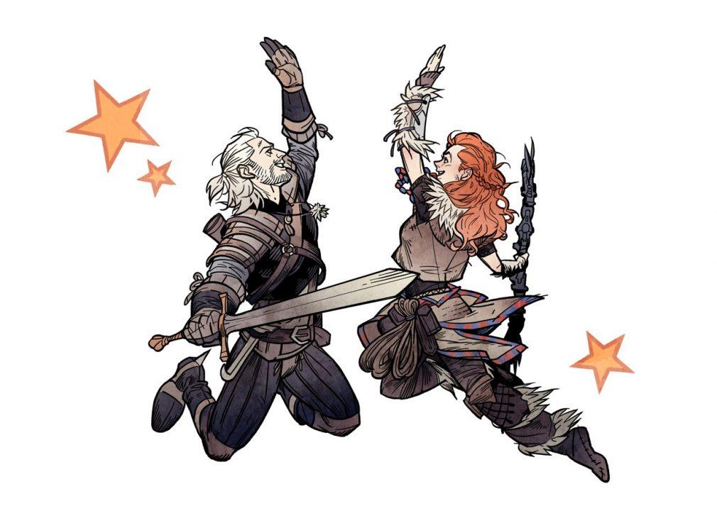 Geralt-ed-Aloy-High-Five