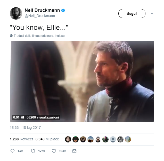 Neil Druckmann - Game of Thrones